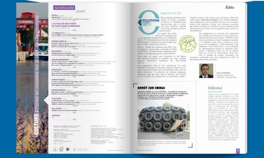 Charte éditoriale et magazine trimestriel
